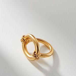 NWT ANTHROPOLOGIE LIZ ECHEVERRY 24K GOLD KNOT RING